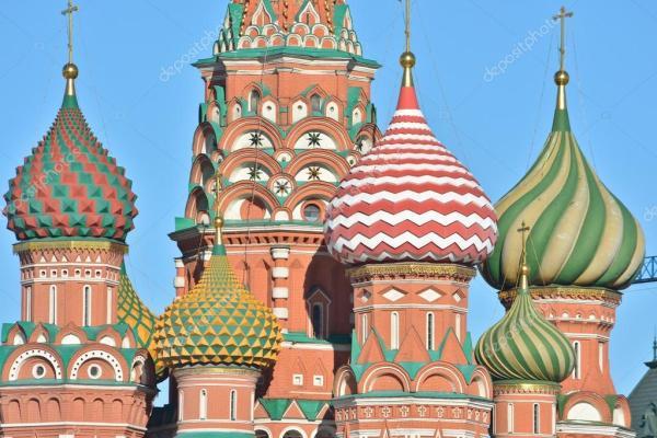 Собор Василия Блаженного на Красной площади в Москве ...