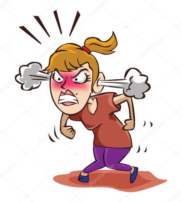 Angry woman on white Stock Vector 169 indomercy2012 70624601