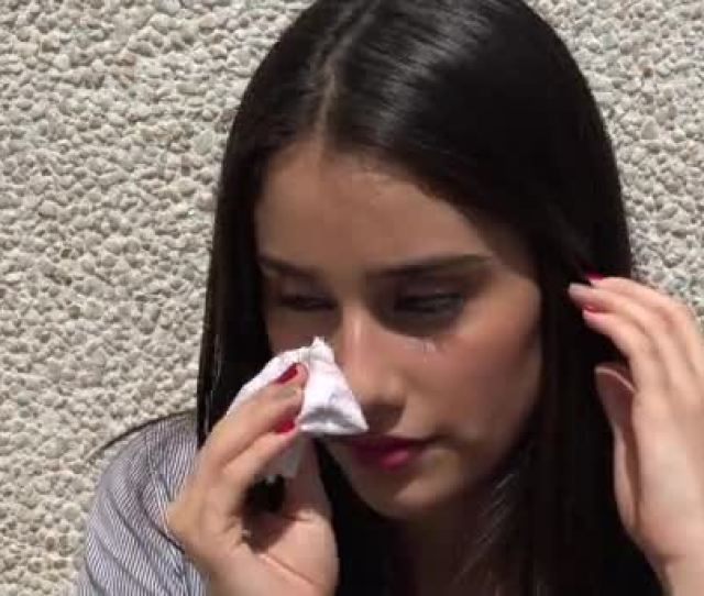 Sweating Teen Girl On Hot Day Stock Video