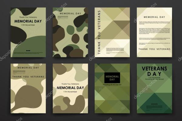 Дизайн плаката в стиле День ветеранов — Векторное ...