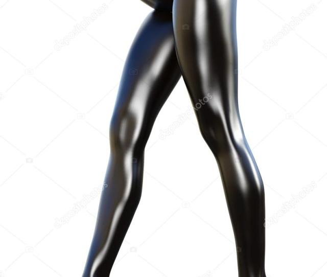 Sexy Slim Female Legs In Latex Pantyhose Stock Photo