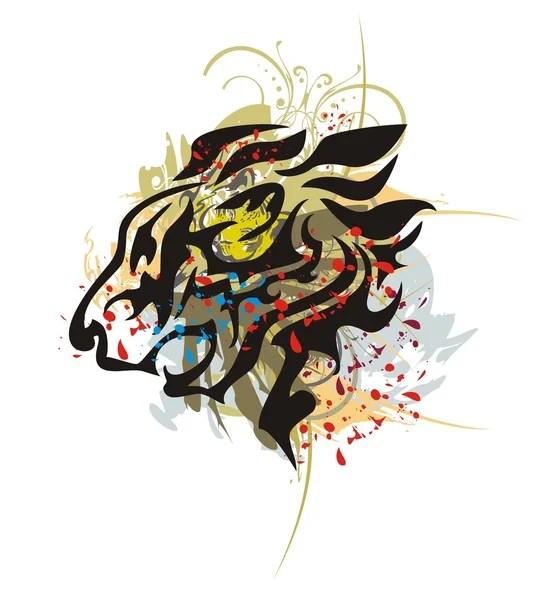 ᐈ Стилизованный лев векторные картинки, иллюстрации ...