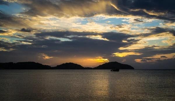 Гарний захід сонця в promthep Кабо-гора Скеля що ext ...