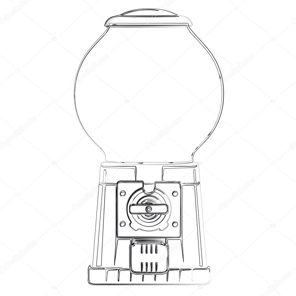 Maquina De Vending De Bolas De Chiclete