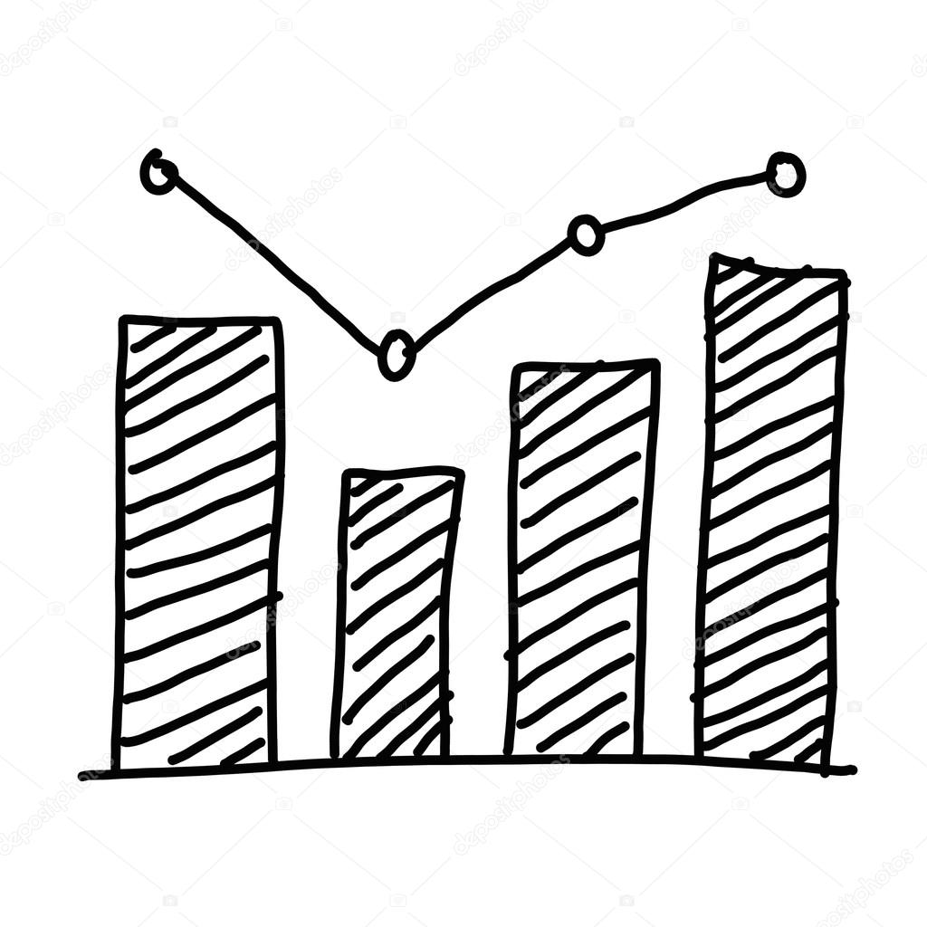 Hand Drawn A Business Bar Graph Show To Concept Of Data