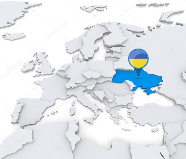 Малюнки україна європа. Украина на карте Европы — Стоковое ...