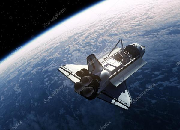 Space Shuttle Orbiting Earth Stock Photo 169 3DSculptor