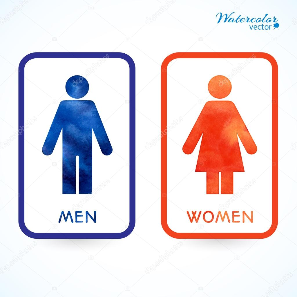 Signs Toilet Changing Room Male Female Wc Stock Vector C Redicka 54660691