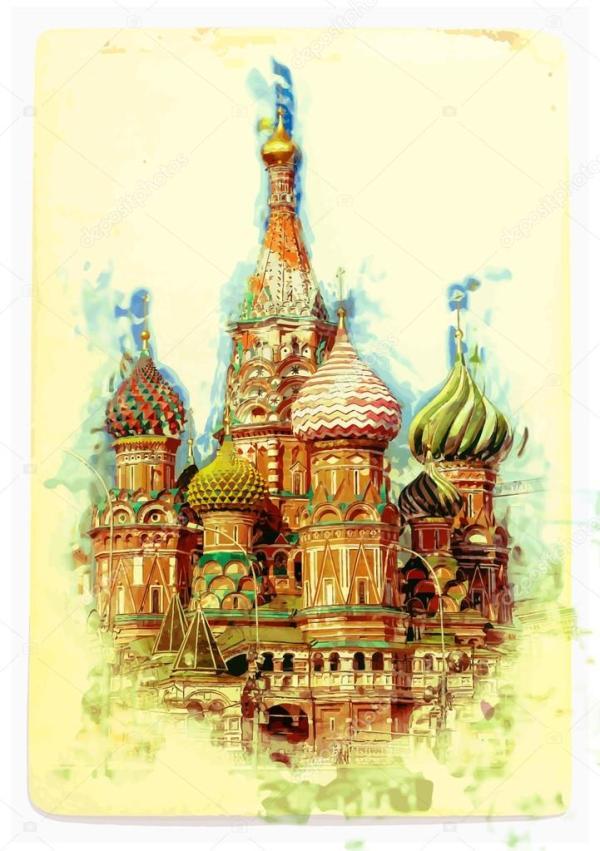 Рисунок: собор василия блаженного. Вид на собор Василия ...