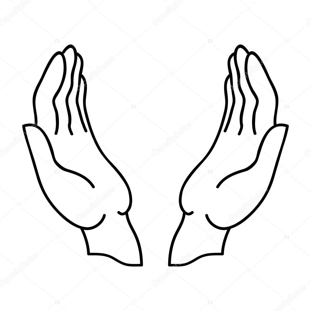 Open Hands Icon Outline Icon