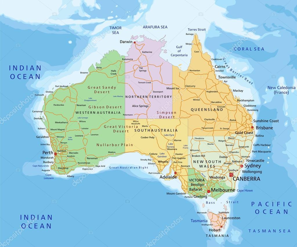 Images Australia Political Map