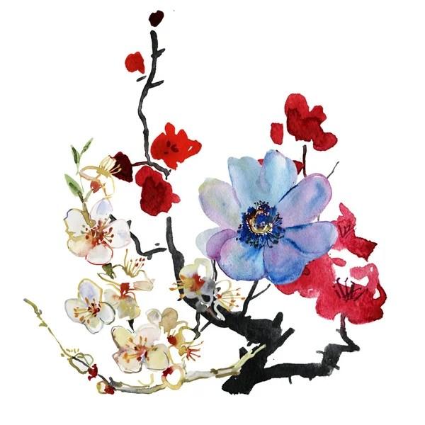 ᐈ Нарисованные цветы на стене: фото и картинки цветы ...