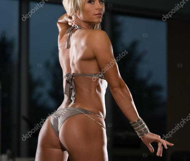 Mature Woman Showing Her Well Trained Ass Stock Photo