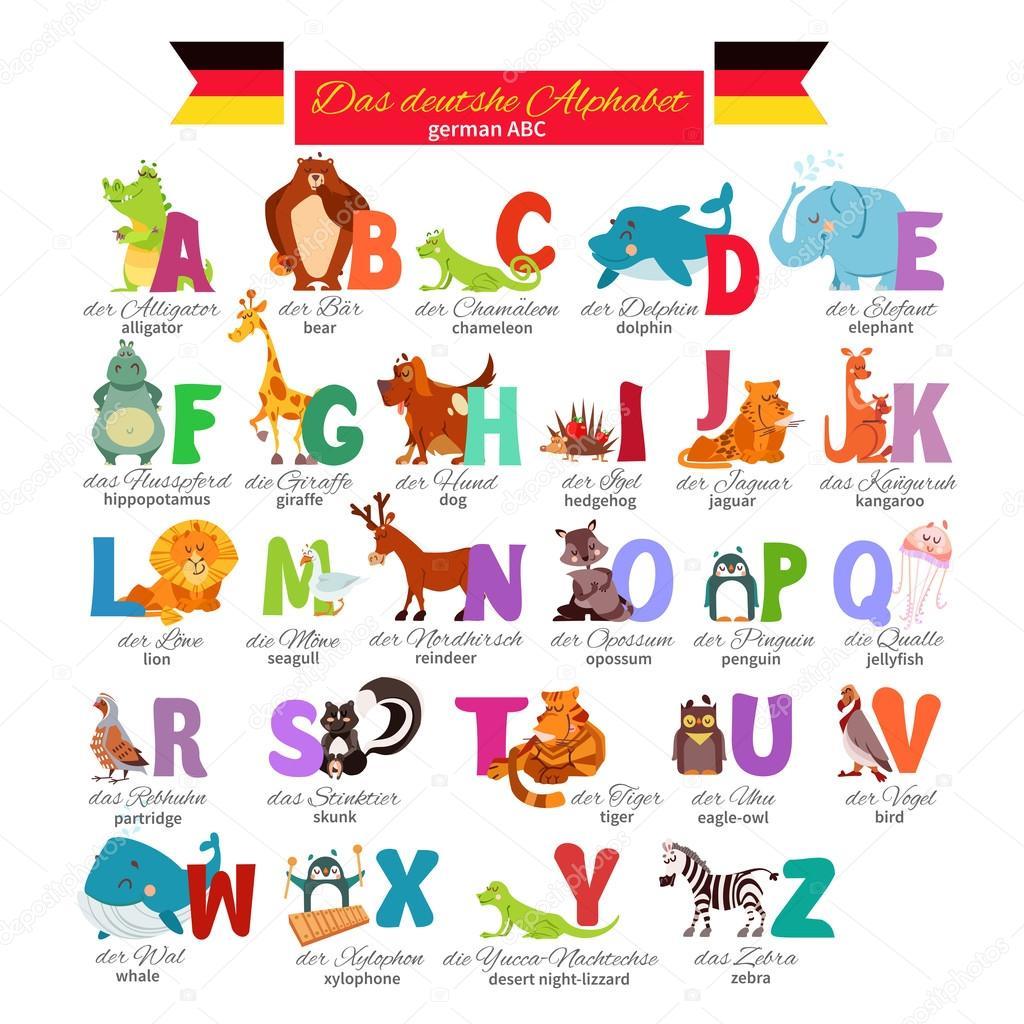 Alphabet Allemand Illustre Zoo