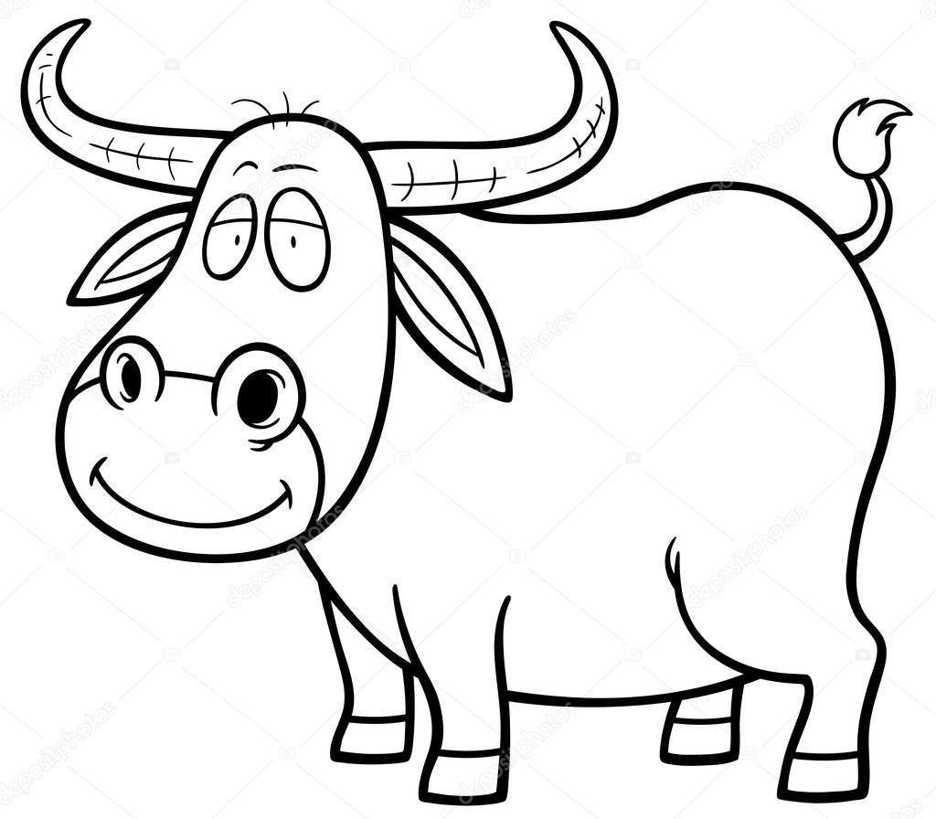 Cartoon Buffalo Outline
