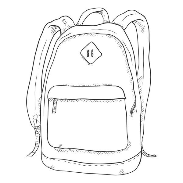 Sketch Casual Backpack Stock Vector Nikiteev 110869960
