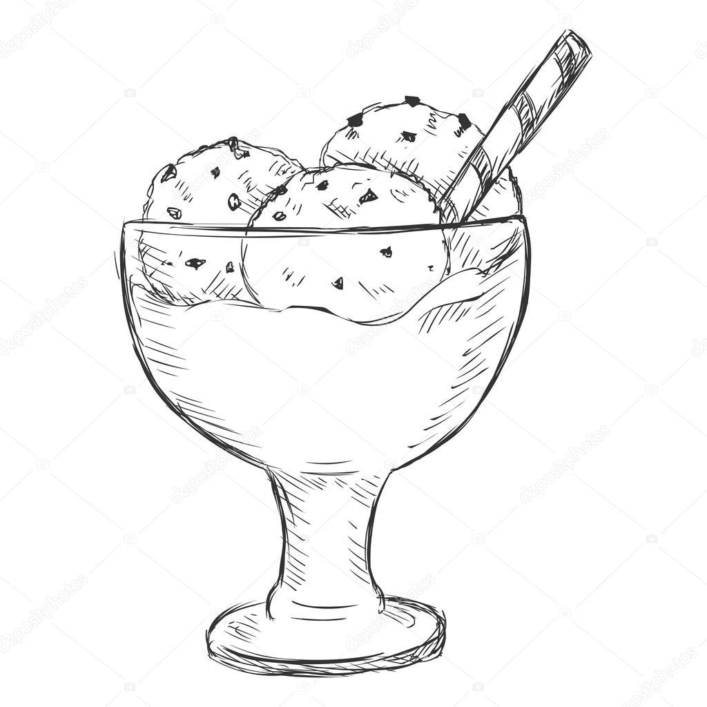 Sketch Ice Cream Sundae