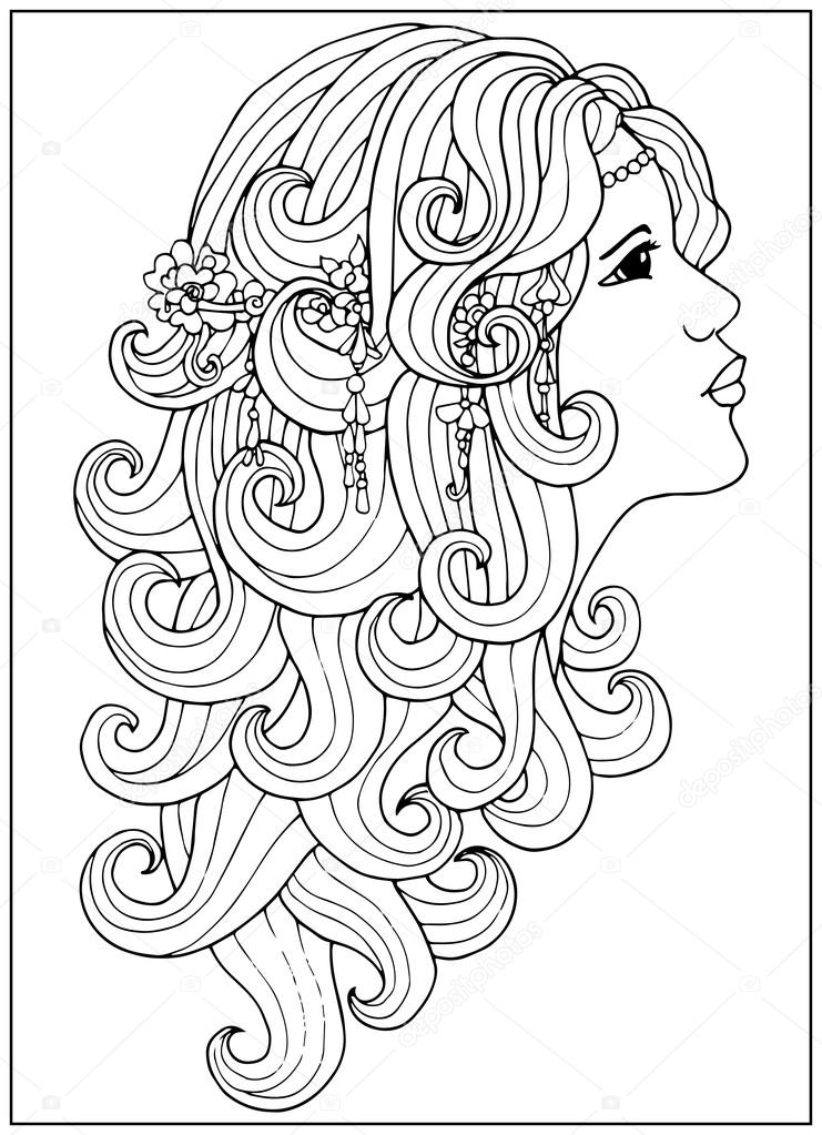 Áˆ Coloring Pages Hair Stock Vectors Royalty Free Hair Coloring Illustrations Download On Depositphotos