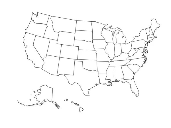 The other method for representing gra. 52 290 Us Map Vector Vector Images Us Map Vector Illustrations Depositphotos