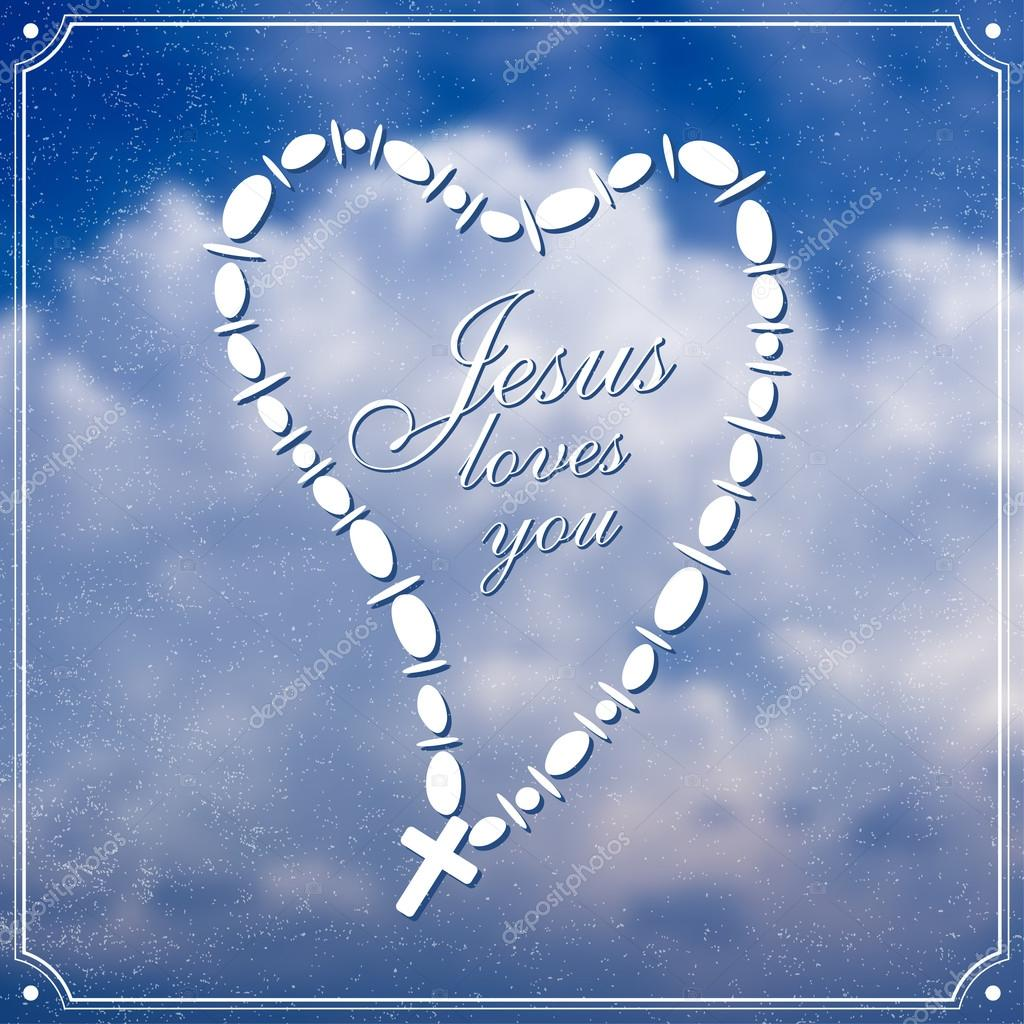 Download Jesus loves you — Stock Vector © Greenvalley #68938575