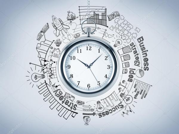 Карманные часы, различные графики и картинки, нарисованные ...