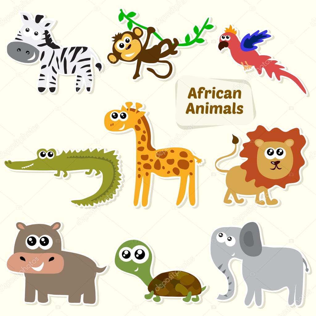 Ensemble D Animaux De La Jungle Animaux D Afrique Dessin