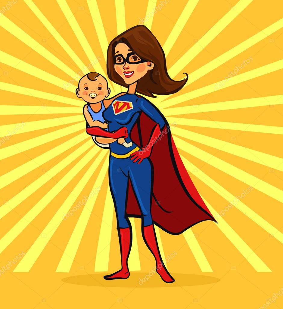 Áˆ Super Mom Stock Pictures Royalty Free How To Draw A Images For Your Mom Vectors Download On Depositphotos