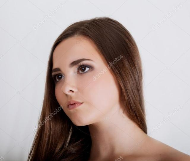 Portrait Of Sexy Young Woman With Creative Hair Style And Chubby Stock Photo