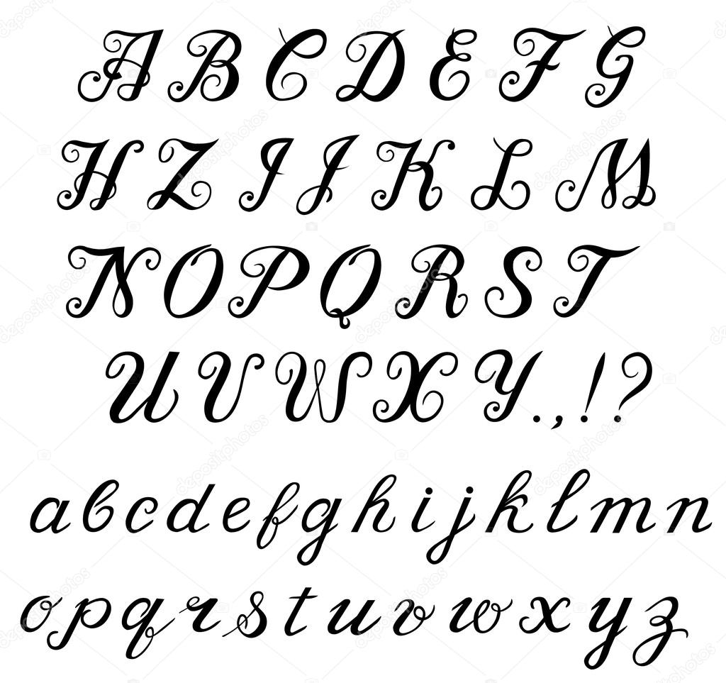 Tattoo Font Old English Letters