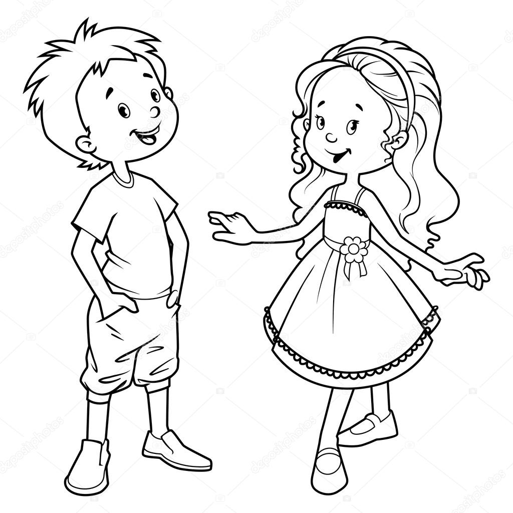Very Cute Kids Boy And Girl