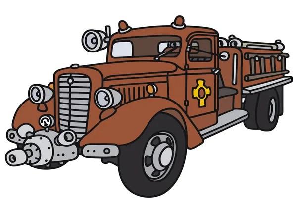 Старинная пожарная машина - векторные изображения ...