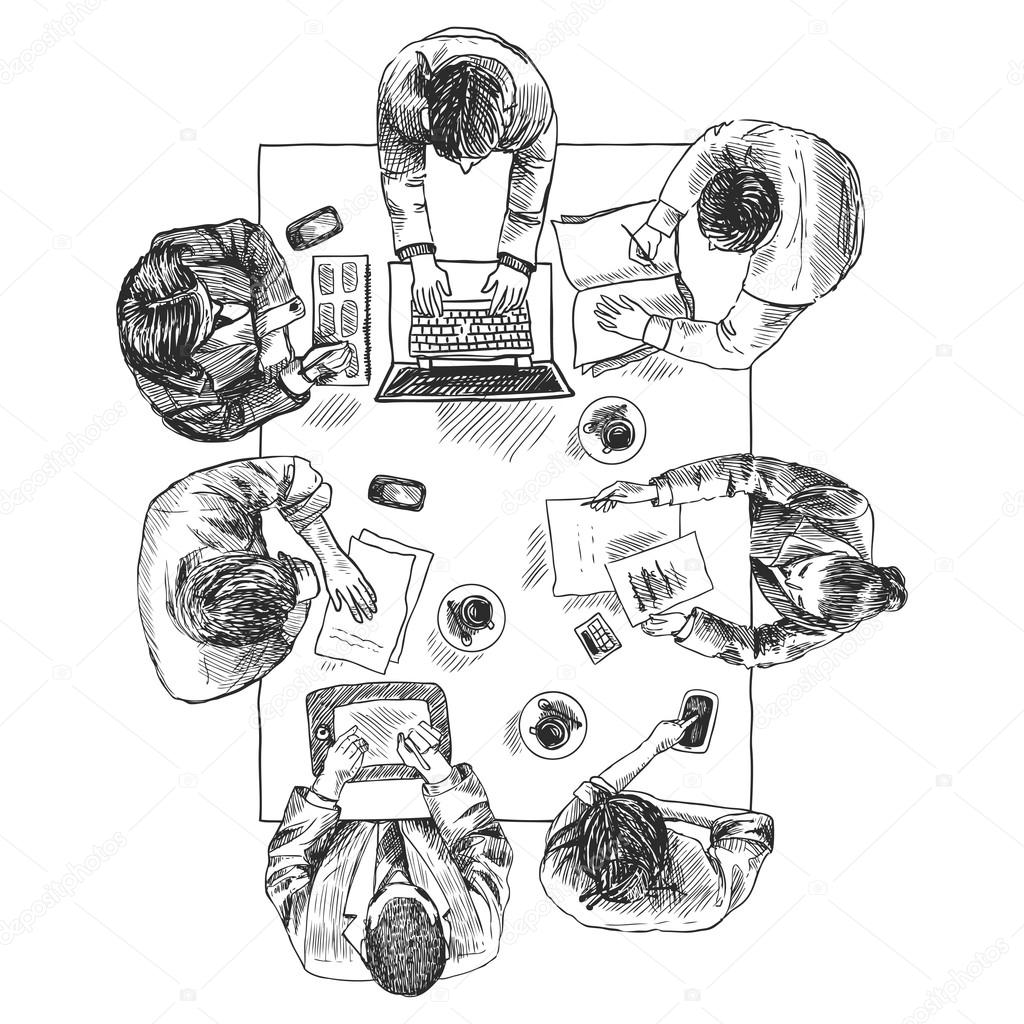 Business Meeting Top View