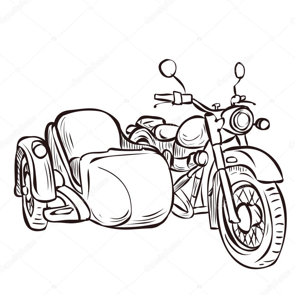 Vintage Bike And Sidecar