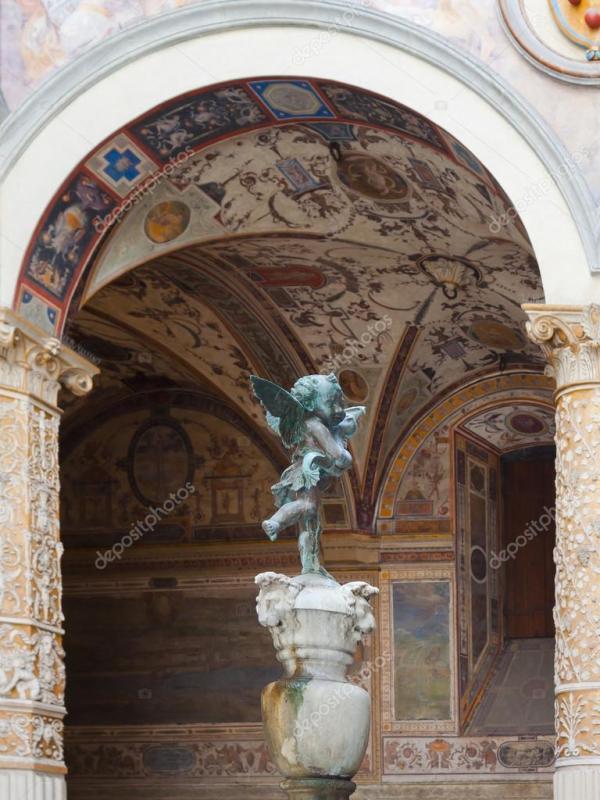 Маленький Ангел Палаццо Веккьо - Флоренция — Стоковое фото ...