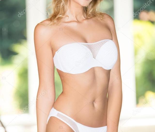 Beautiful Blonde Girl In Bikini Posing