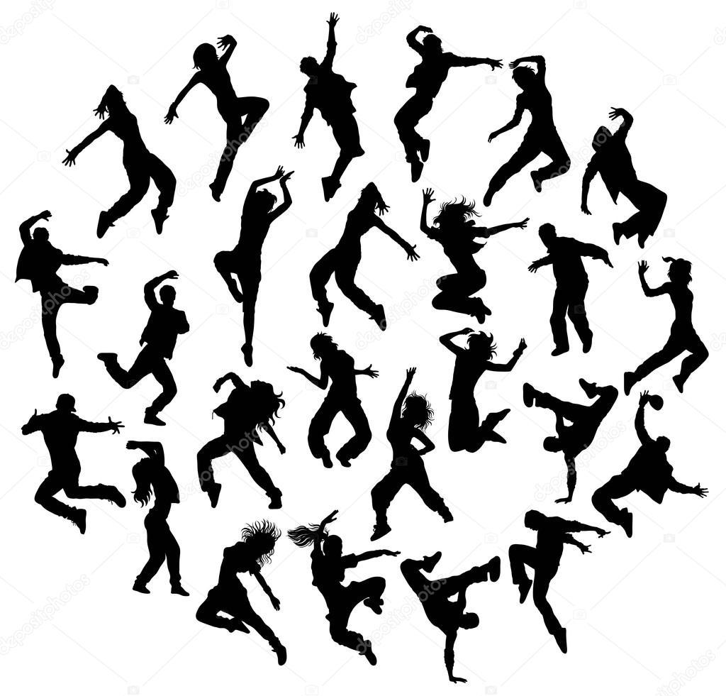 Silhouettes Modern Dance