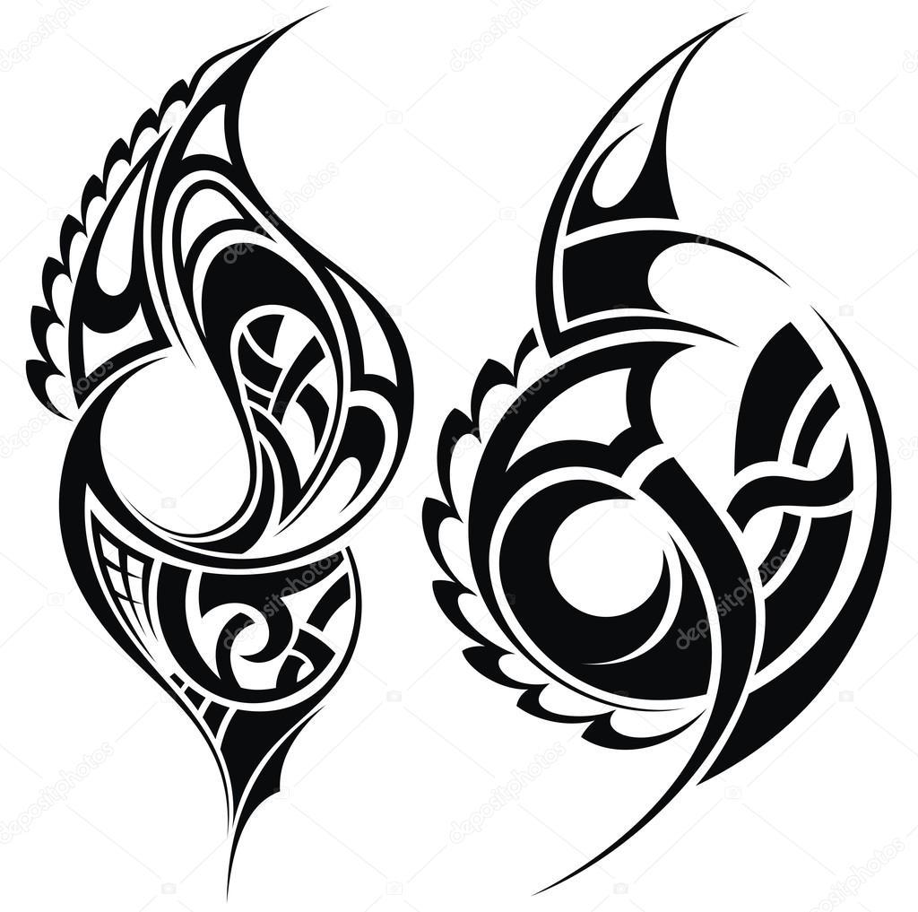 Maori Tatua Wzor W Stylu