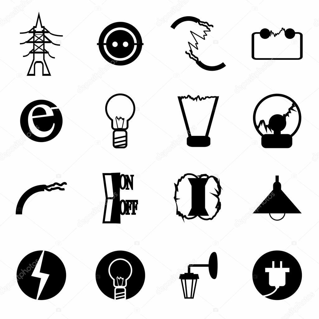 Vektor Elektrik Icon Set