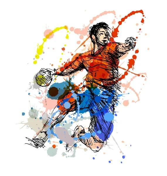 vektorgrafiken skizze handball