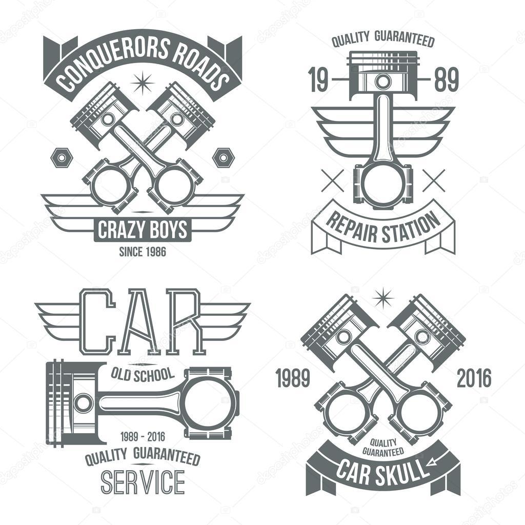 Emblemas De Pistao De Motor De Carro