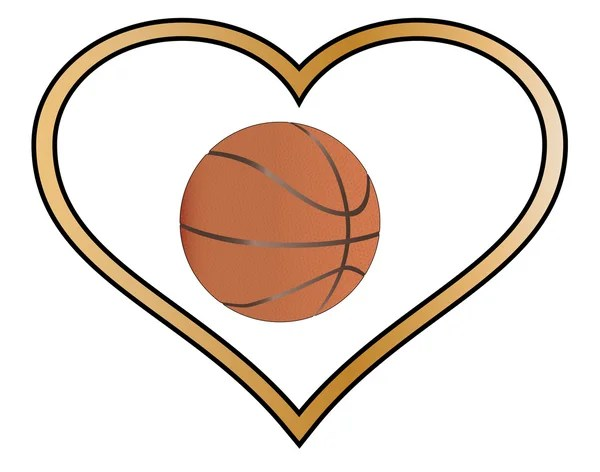 Download Basketball heart — Stock Vector © Seamartini #10932737
