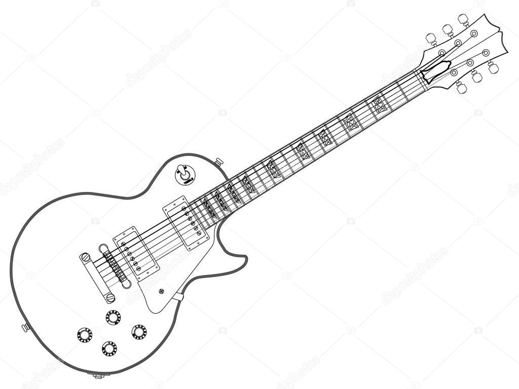 Outline Blues Guitar