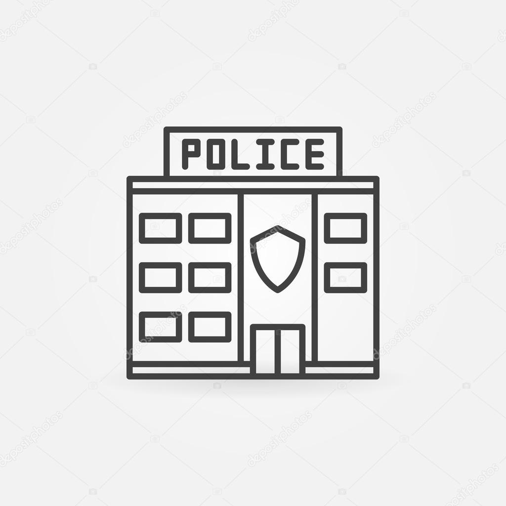 Icono Del Edificio De La Estacion De Policia