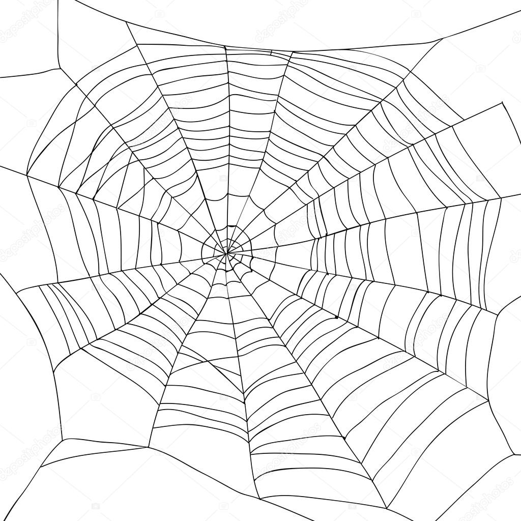 Abstract Drawing Of A Spiderweb
