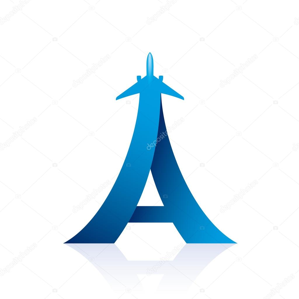 Airline Logo Design With Capital Letter A