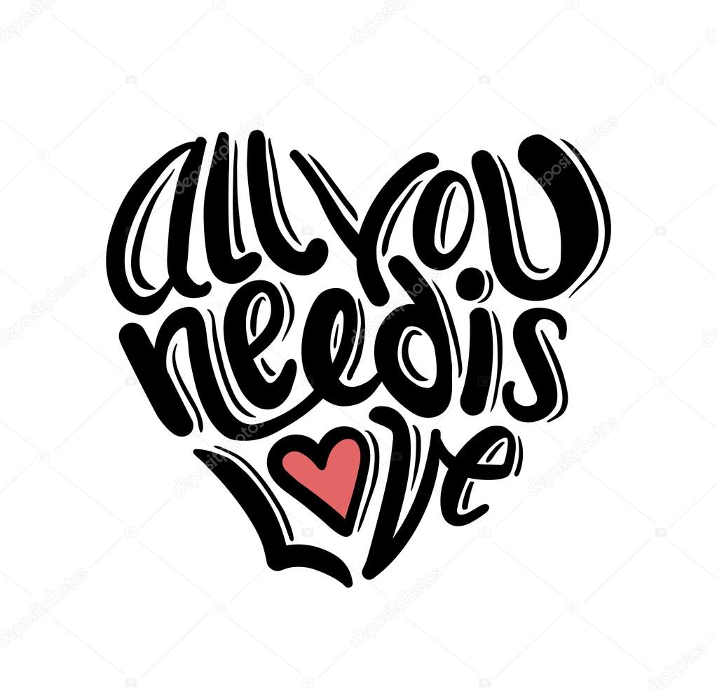 Download All you need is love vector — Stock Vector ...