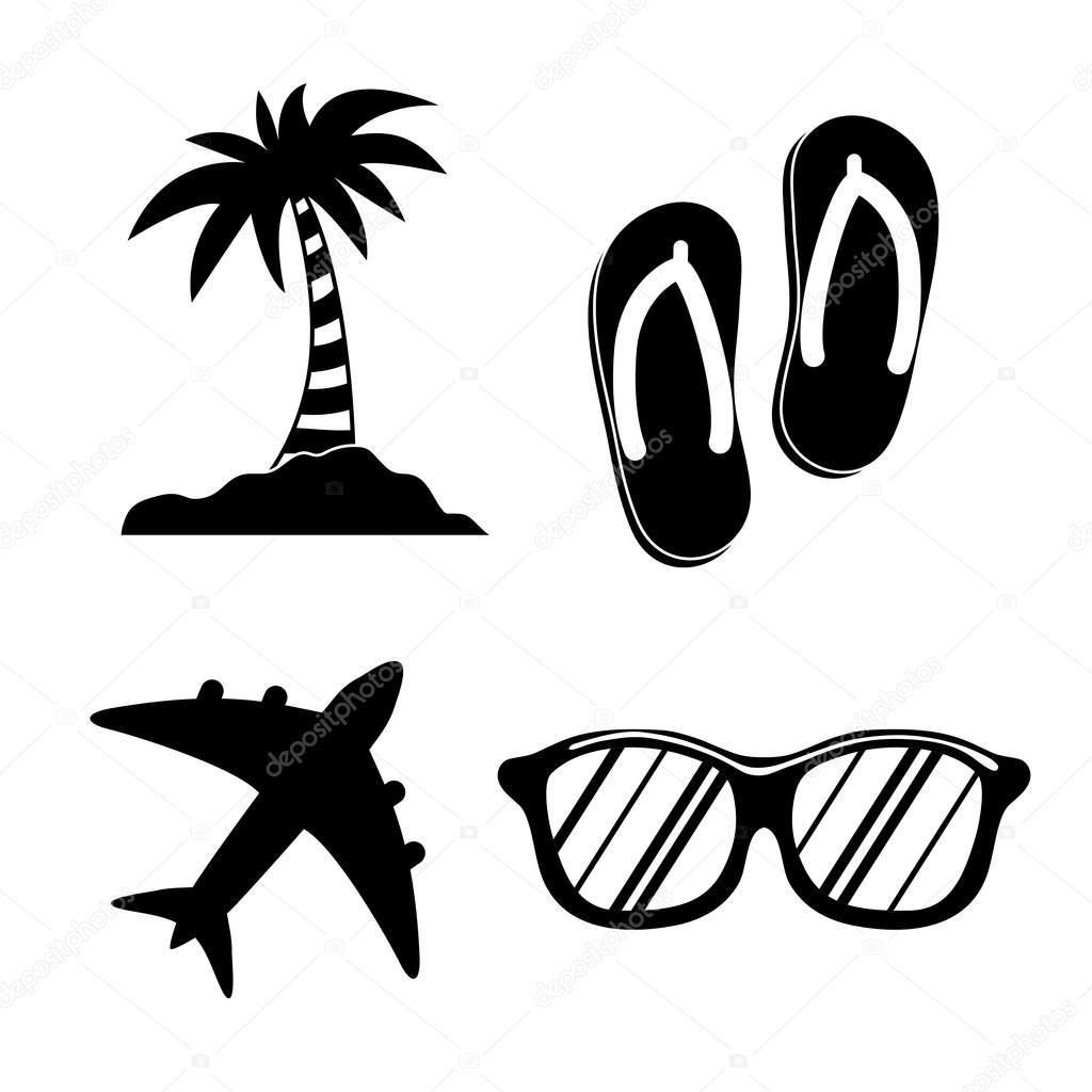 Letni As Designu Dovolena Ikona Koncept Beach