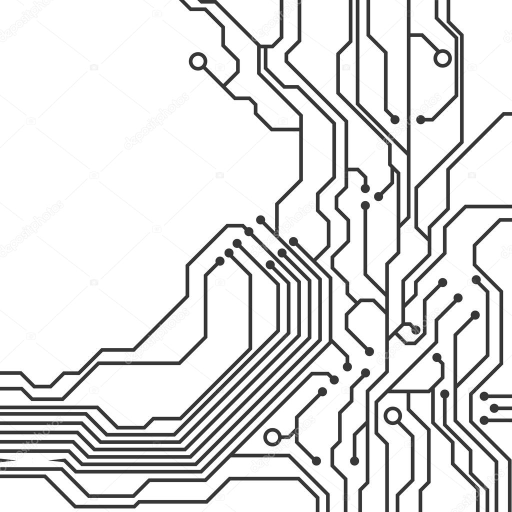 Circuit Board Icon Technology Design Vector Graphic