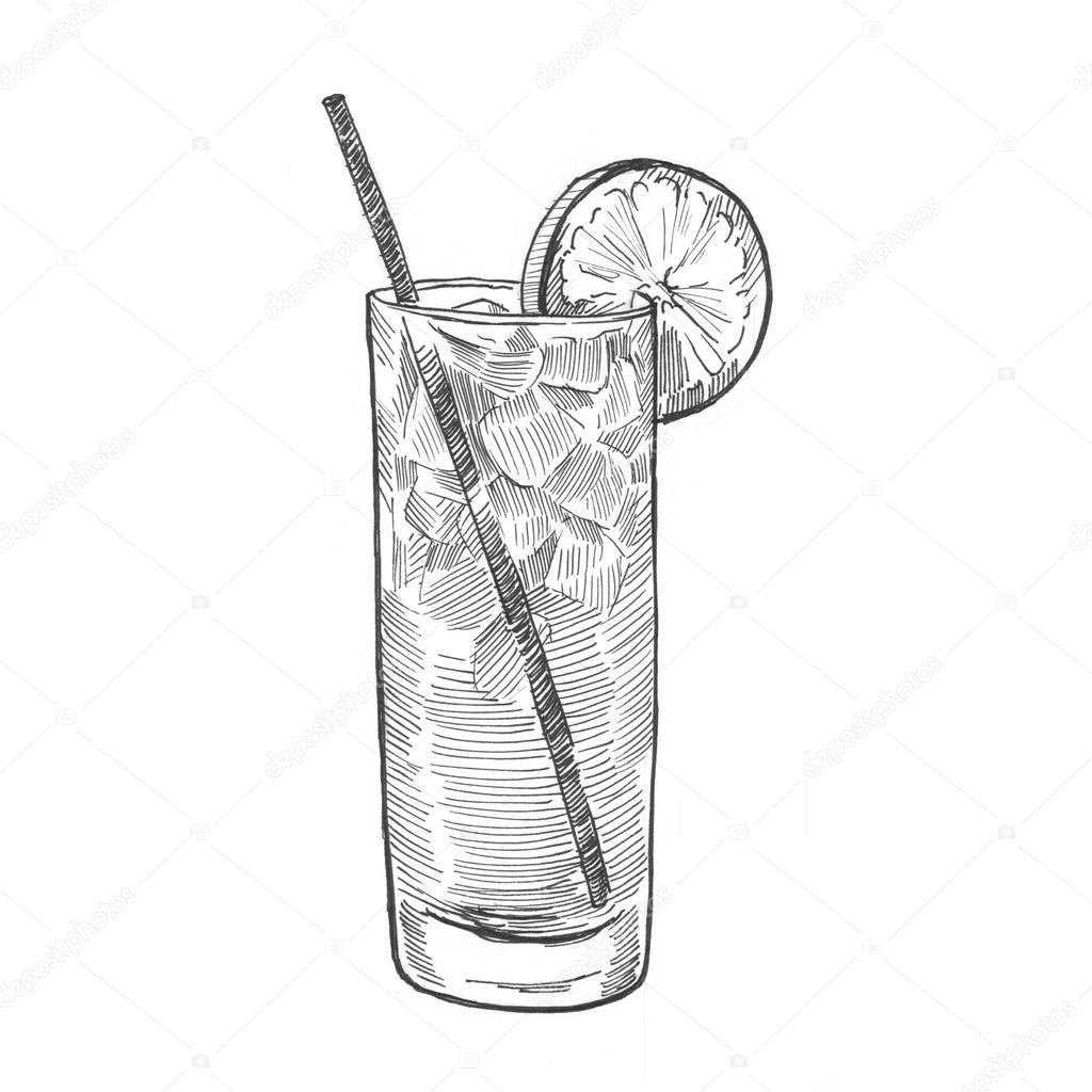 Schilderij Illustratie Cocktail