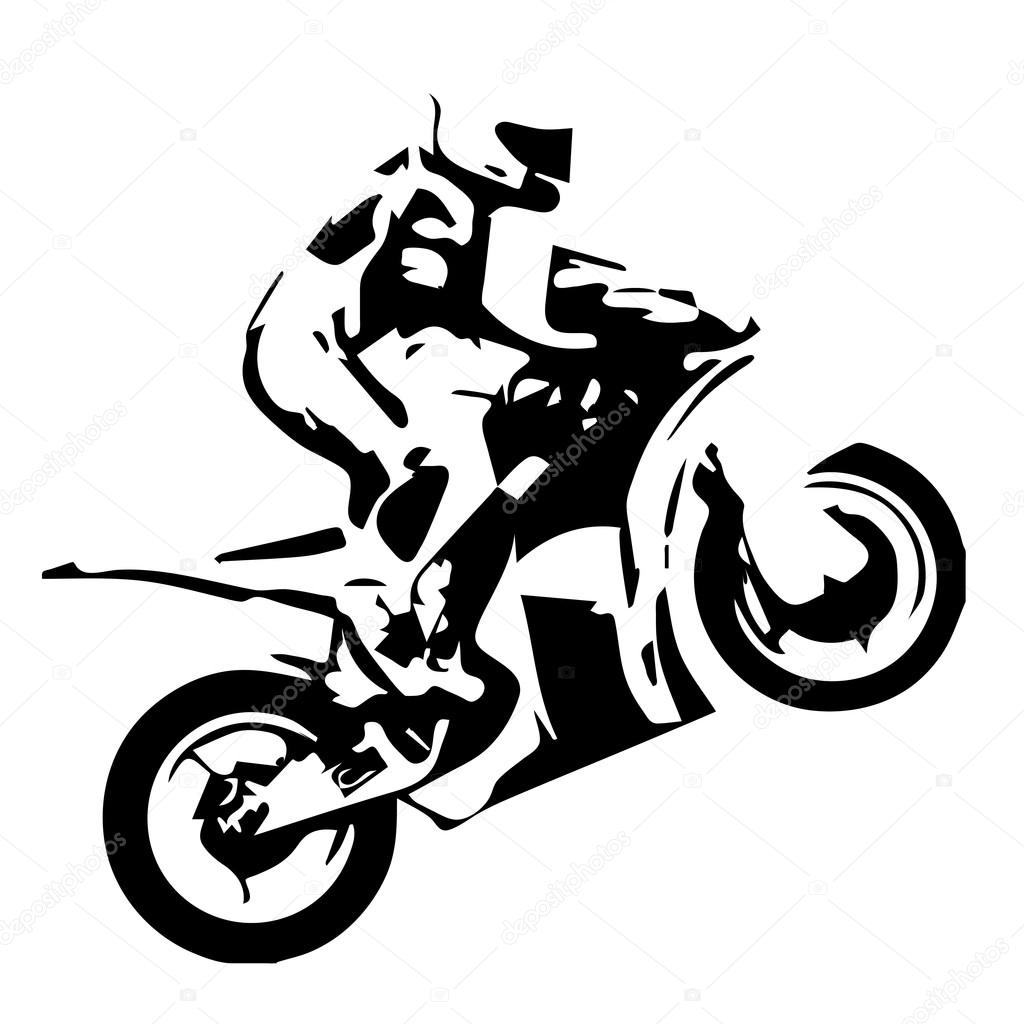 Motor Bike Race Vector